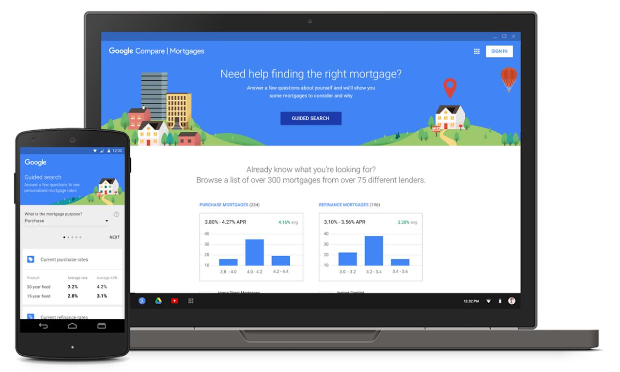 Google 推出房貸利率比較工具,要當你的房貸經紀人