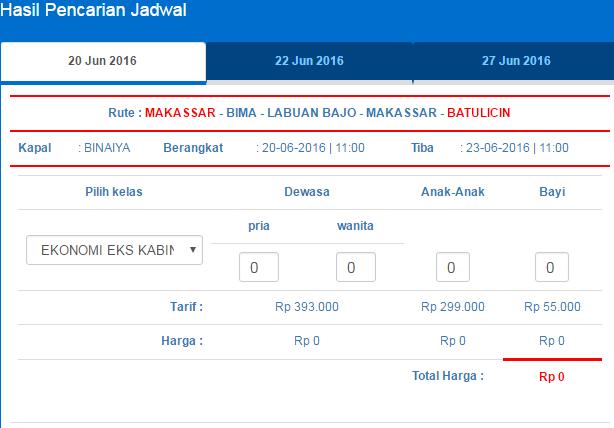 rute Makassar BatuLicin