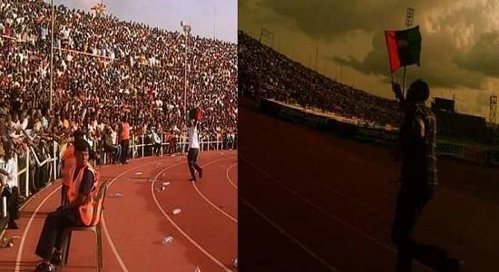 BREAKING: How Biafran Flag Flies All Over Nnamdi Azikiwe Stadium As Enugu Rangers Wins Title (Photos)