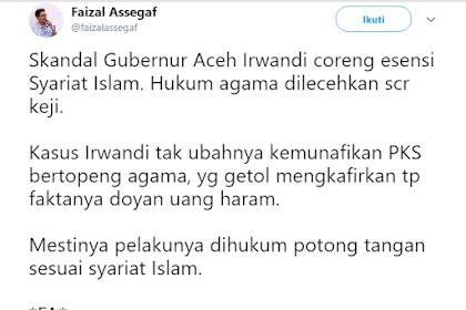 MakJlebbbb! Pernyataan Faizal Assegaf tentang Kasus Irwandi dengan Bawa-Bawa PKS dan Syariat Islam di Skak-Mat Warganet dan Ustadz Yahya Waloni