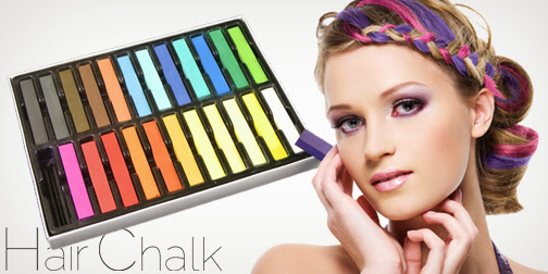 Jual Hair Chalk 24 Temporary Hair Colours