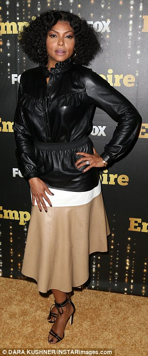 Taraji P. Henson and co-star Terrence Howard pictured together at season five premiere of Empire in NYC
