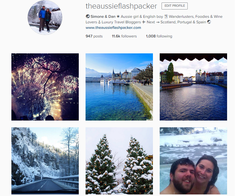 The Aussie Flashpacker Instagram
