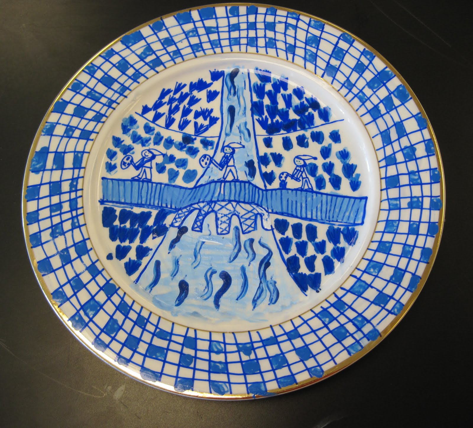 A Little Of This That Sixth Graders Are Finishing Up Their Blue Willow China