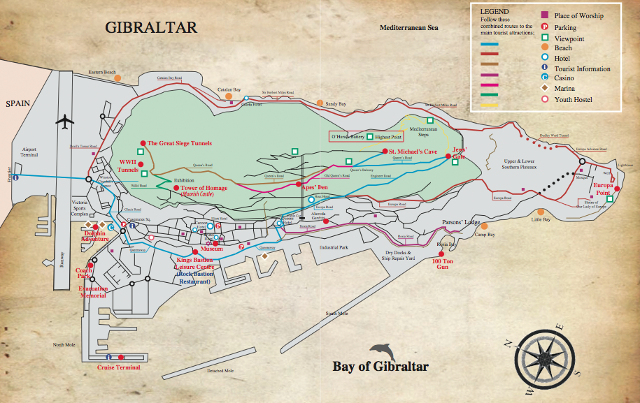ANTHROPOLOGY OF ACCORD Map on Monday GIBRALTAR