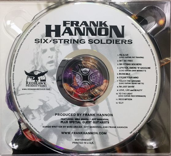 FRANK HANNON (Tesla) - Six String Soldiers [full retail] disc