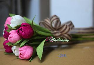 Hoa Tulip giấy 3 màu