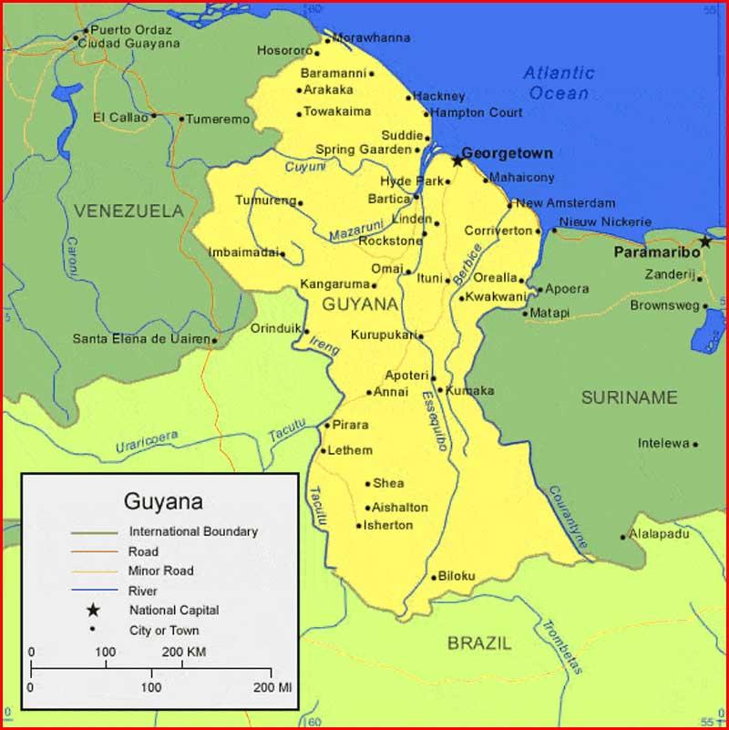 Gambar Peta Guyana