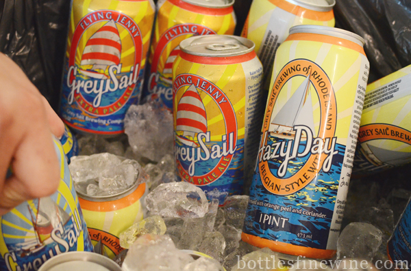 """Rhode Island"" ""Grey Sail"" ""Hazy Day"" beer, cans, ""tall boys"""
