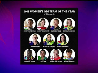 ICC Announces Women's ODI and T20 Team of the Year, 2018, 3 Indian players included