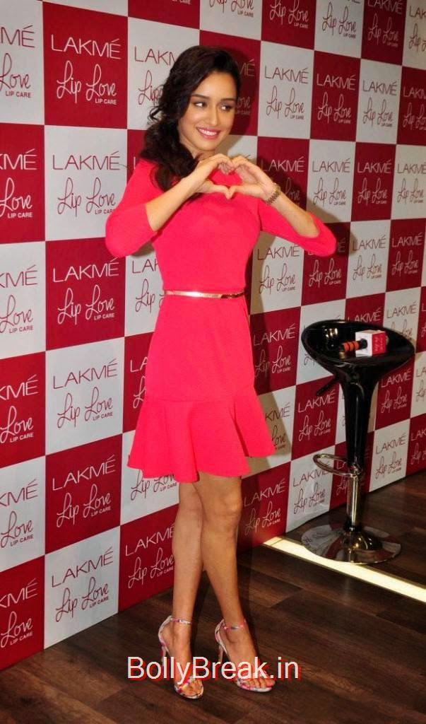 Shraddha Kapoor images, Hot Pics Of Shraddha Kapoor in red dress from LAKME Event