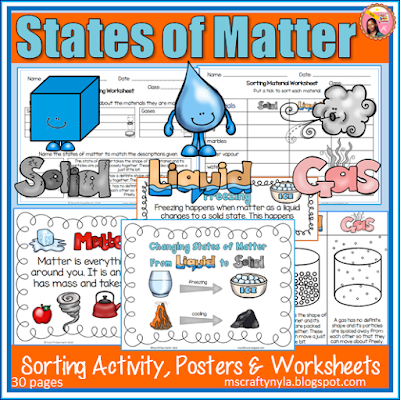 4th Grade Science 3 States Of Matter - nyla s crafty ...