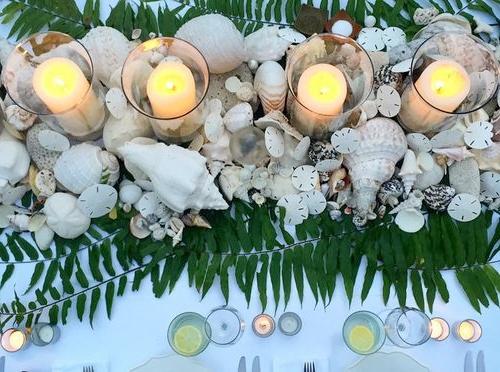 Seashell Candle Centerpiece Festive Holiday Beach Decor