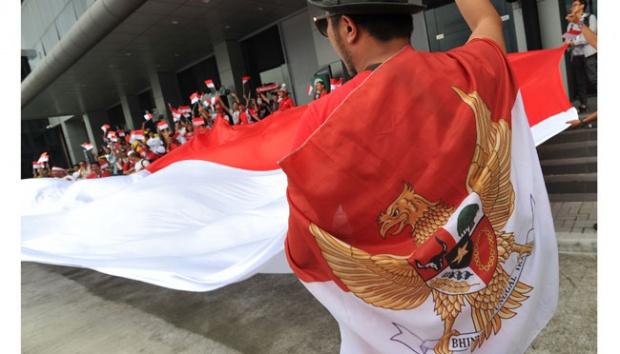 Gaya Heboh Suporter Indonesia di Piala AFF 2016
