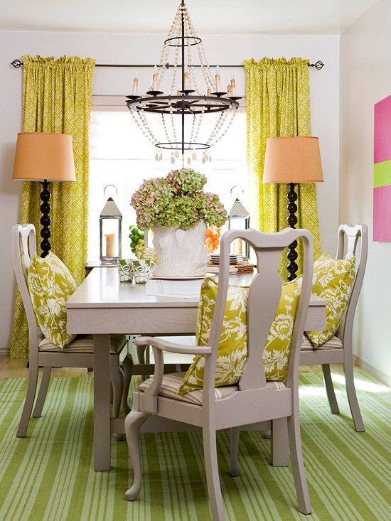 Mix and chic bright and colorful dining room ideas - How to decorate a house with no money ...