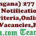 TSPSC (Telangana) 277 AEE Posts Recruitment Notification 2017-Eligibility Criteria,Online Application,Vacancies,Fee Details