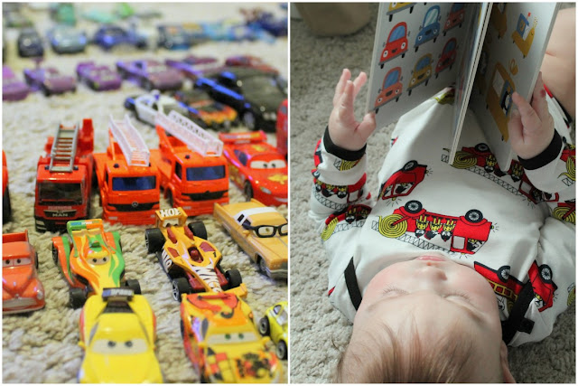 Feuerwehr Auto Print Skandinavische Kindermode von Smafolk Baby Kids Fashion Jules kleines Freudenhaus