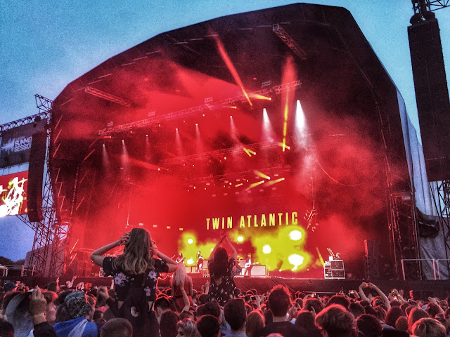 Twin Atlantic performing at the 2018 Glasgow Summer Sessions concert