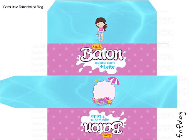 Cajas de Fiesta en la Piscina para Niña Morena para imprimir gratis.