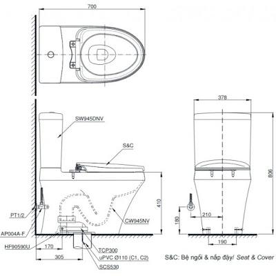 Đánh giá bồn cầu TOTO CS945DNT3 chính xác tại showroom TOTO