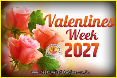 2027 Valentine Week List : 2027 Valentine Week Schedule, Hug Day, Kiss Day, Valentine's Day 2027