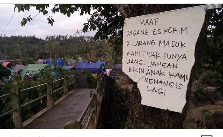 Diawali Maaf, Tulisan Korban Gempa Lombok Ini Bikin Nangis