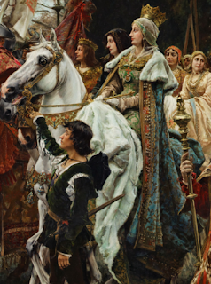 Isabella in the The Capitulation of Granada
