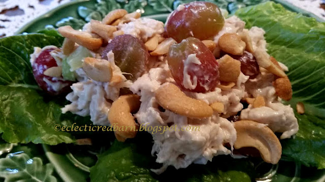 Eclectic Red Barn: Chicken Salad with grapes and cashews