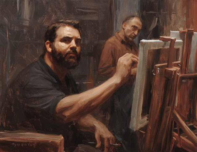 Scott Burdick, Portraits of Painters, Self Portraits, Fine arts