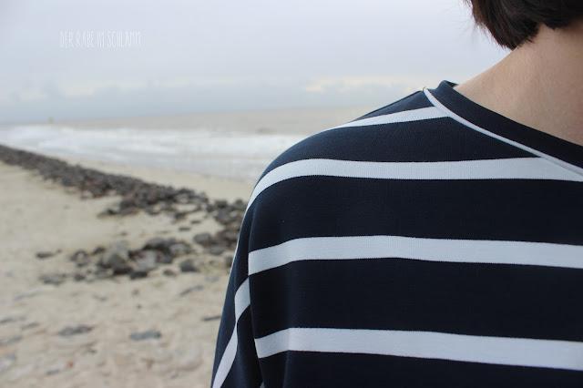 Der Rabe im Schlamm, Oversize, Nähen, Sewing, Oberteil, Nosh, Sweatshirt, Ringelshirt, Stoff&Stil