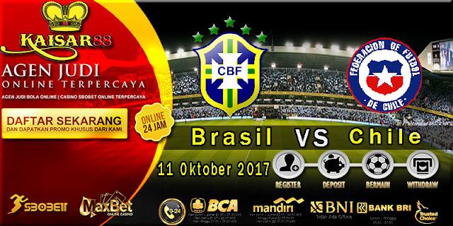 Prediksi bola terpercaya World Cup Brasil vs Chile 11 Oktober 2017