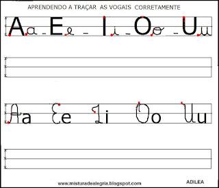 Escrita correta de vogais