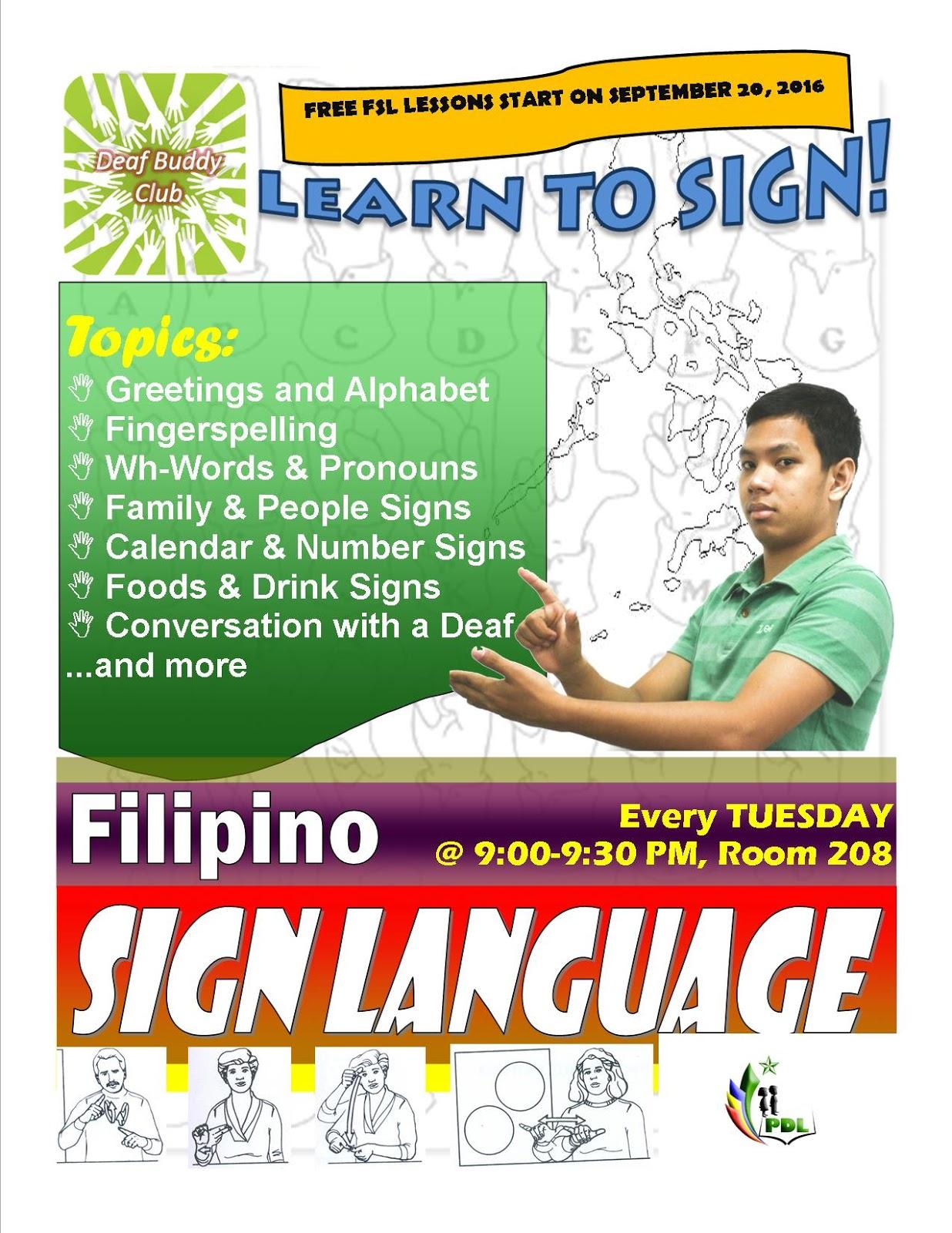 Program For Deaf Learners September 2016