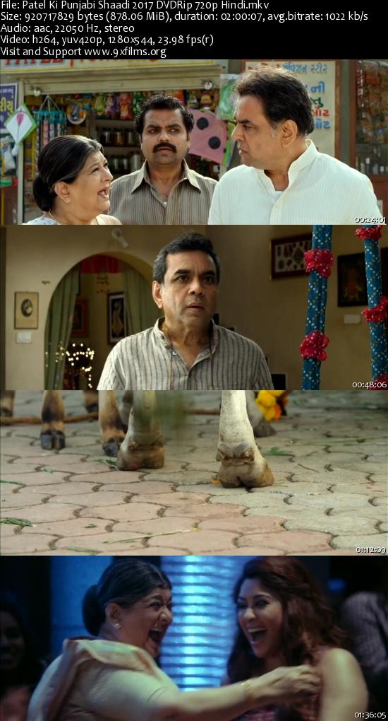 Patel Ki Punjabi Shaadi 2017 DVDRip 720p Hindi 800MB