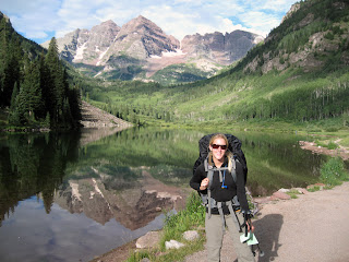 starting the Four Pass Loop near Aspen at the foot of the Maroon Bells