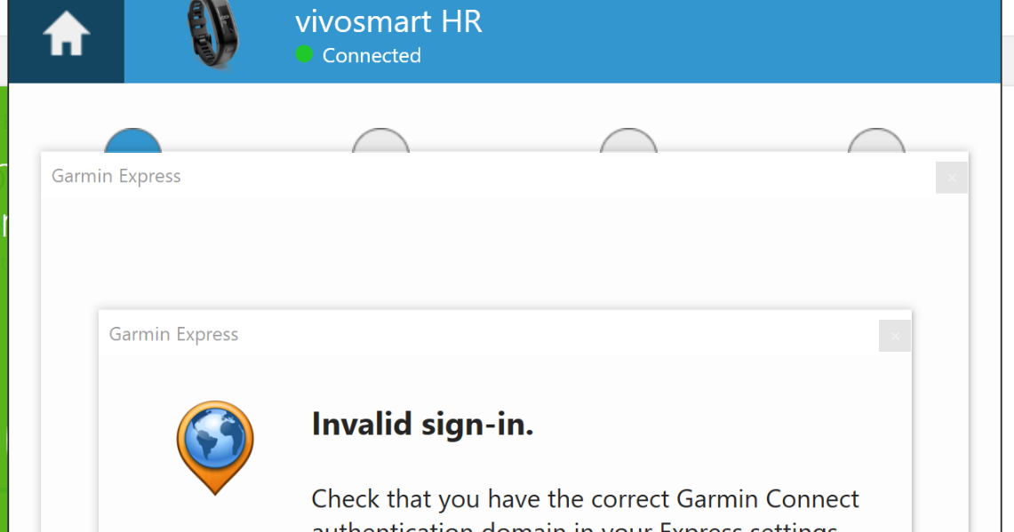 Garmin Connect Authentication Domain Issue (Garmin Connect