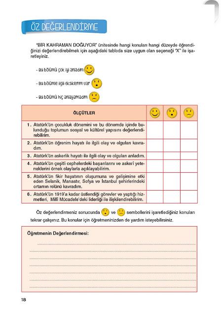 8. Sınıf İnkılap Tarihi Top Yayınları Çalışma Kitabı Cevapları Sayfa 18