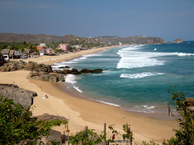 Playa de Zipolite en Mexico