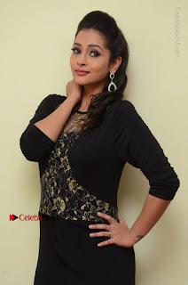 Telugu Actress Manasa Manohar Stills in Black Long Dress at Naku Nene Thopu Turumu Trailer Launch  0052.JPG