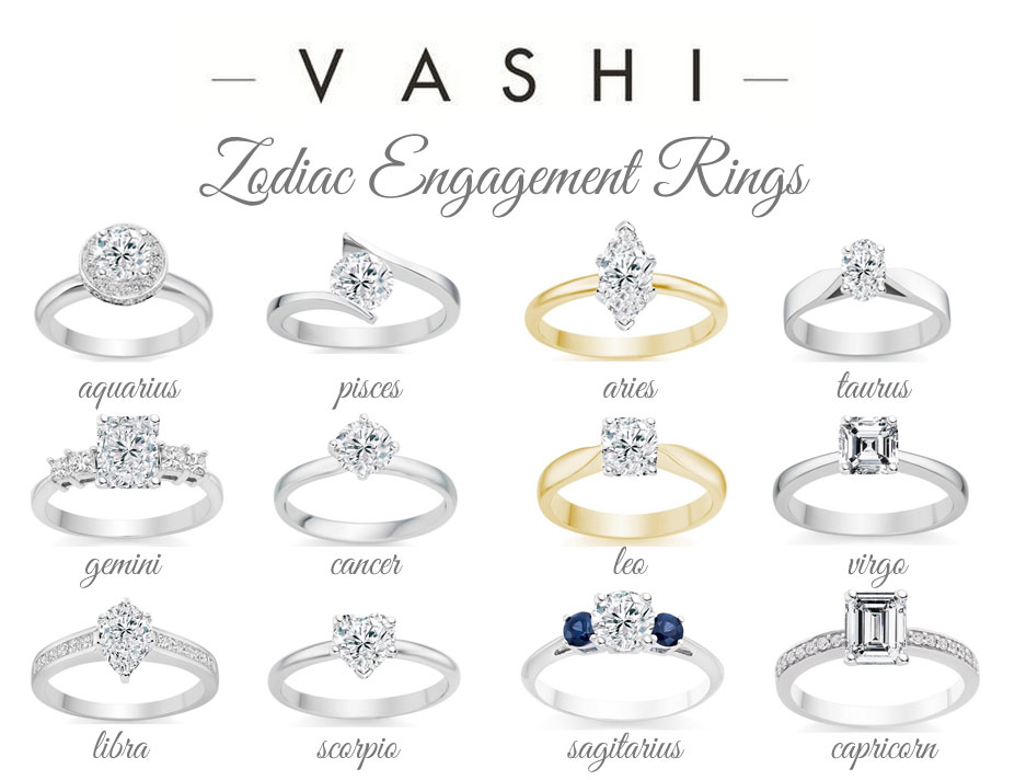 Diamond Engagement Ring Jewellery Rings Vashi Zodiac
