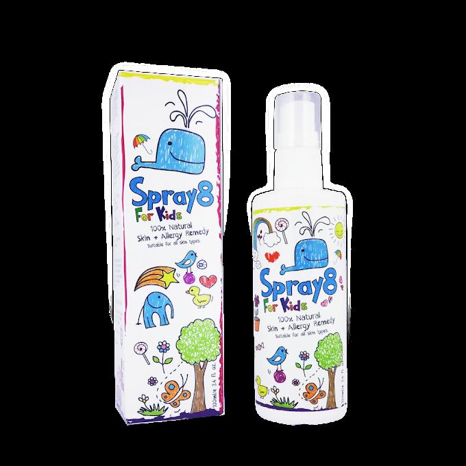 Spray 8 For Kids Merawat Kulit Akif Terkena Api
