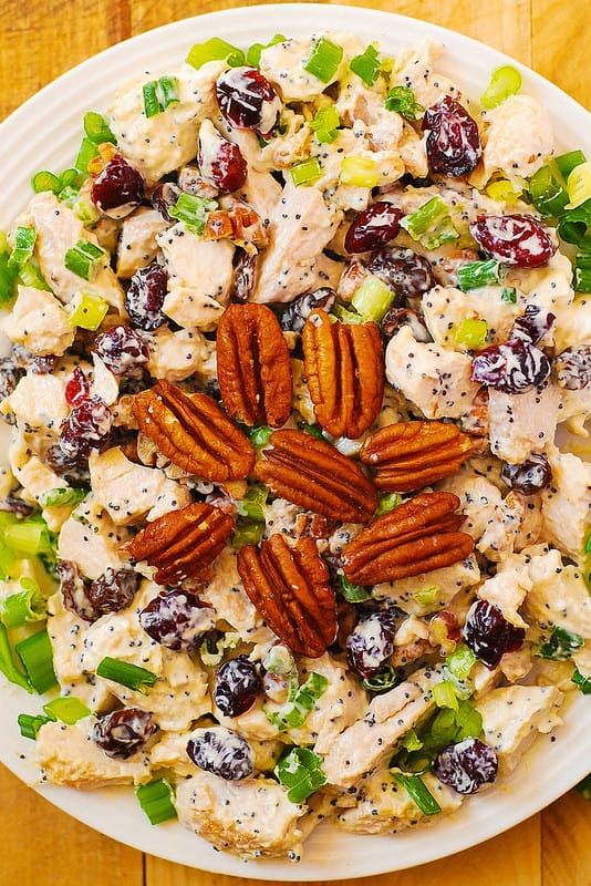 #Cranberry #Pecan #Chicken #Salad with #Poppy #Seed #Dressing
