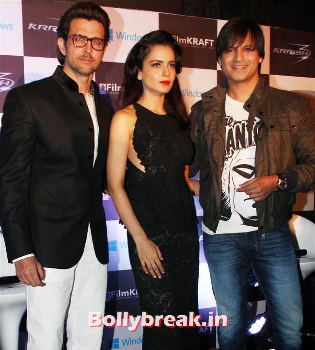 Hrithik Roshan, Kangana Ranaut and Vivek Oberoi, Halloween Party to Promote Krrish 3