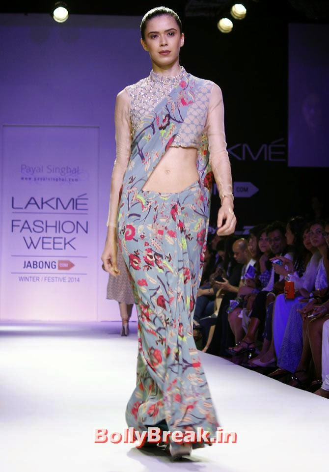 Sucheta Sharma in a Payal Singhal creation., Vaani Kapoor Lakme Fashion Week 2014 Pics in Bikini Bra Choli