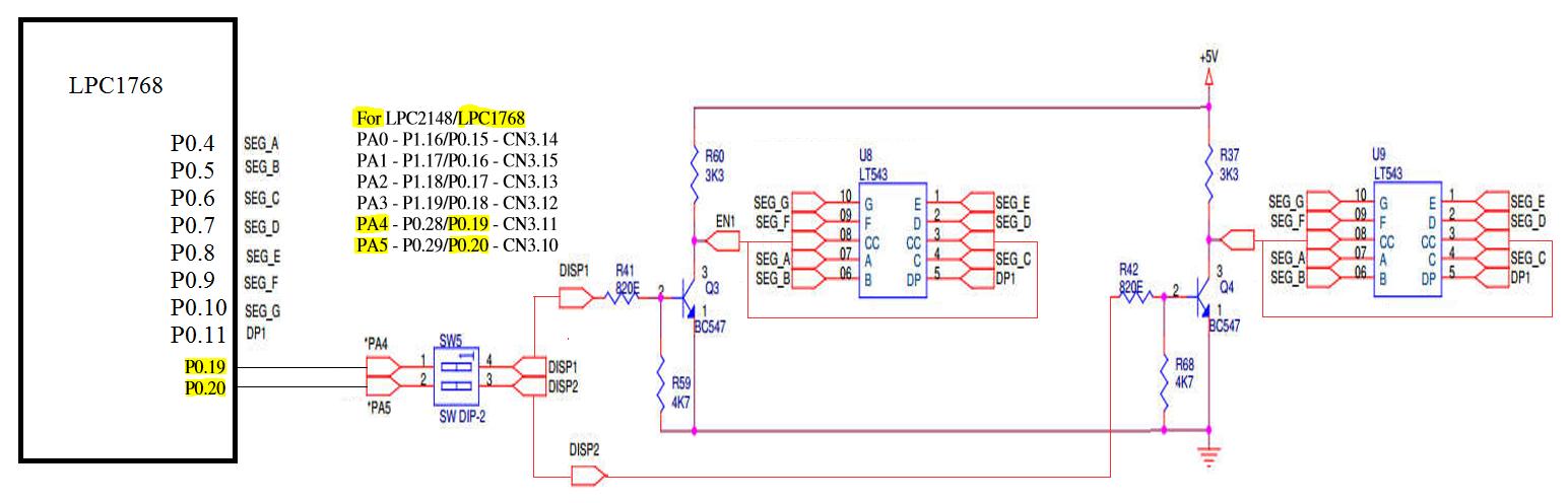 Arm Cortex M3 Lpc1768 9 Seven Segment Led Interface