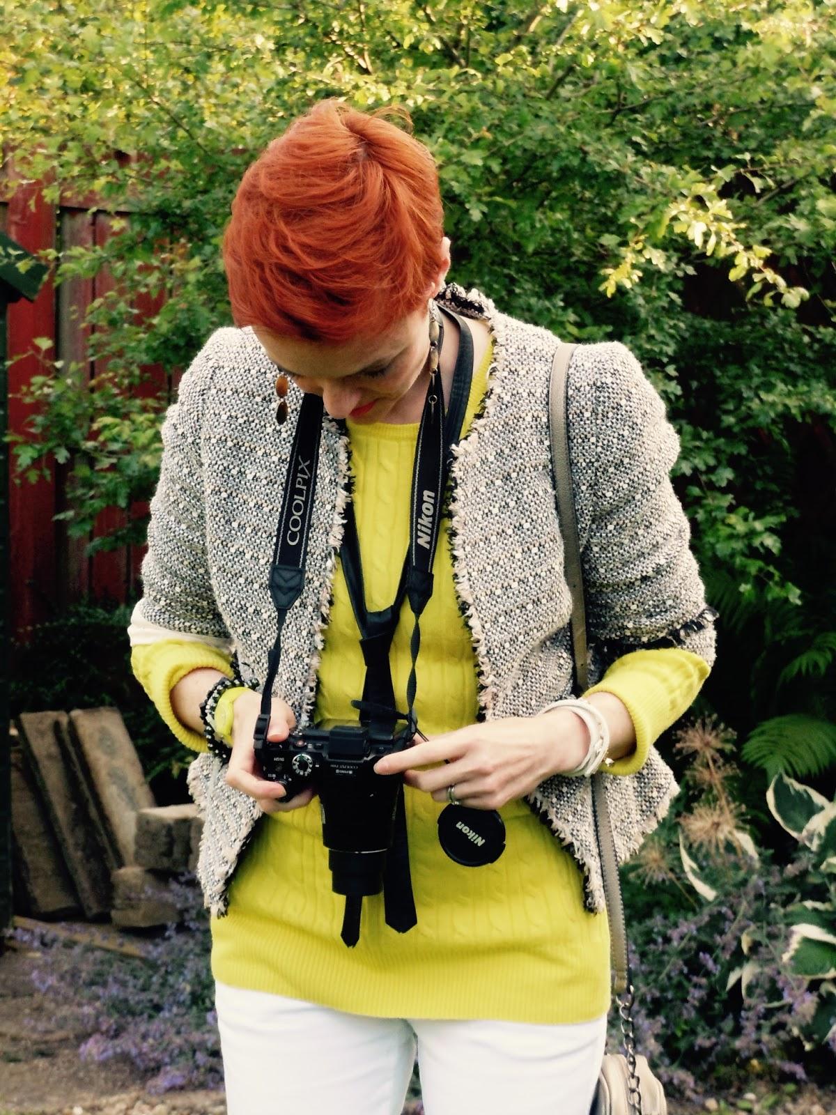 Nikon camera in action.