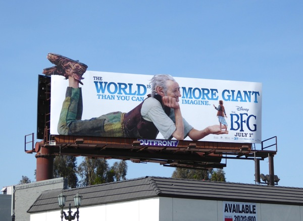 Disney The BFG movie billboard