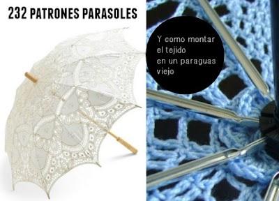 232 patrones parasoles y como poner el tejido en el armazon