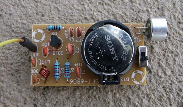 Transmissor de FM - Placa montada