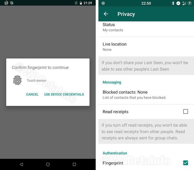 Sistema dactilar para proteger conversaciones en WhatsApp